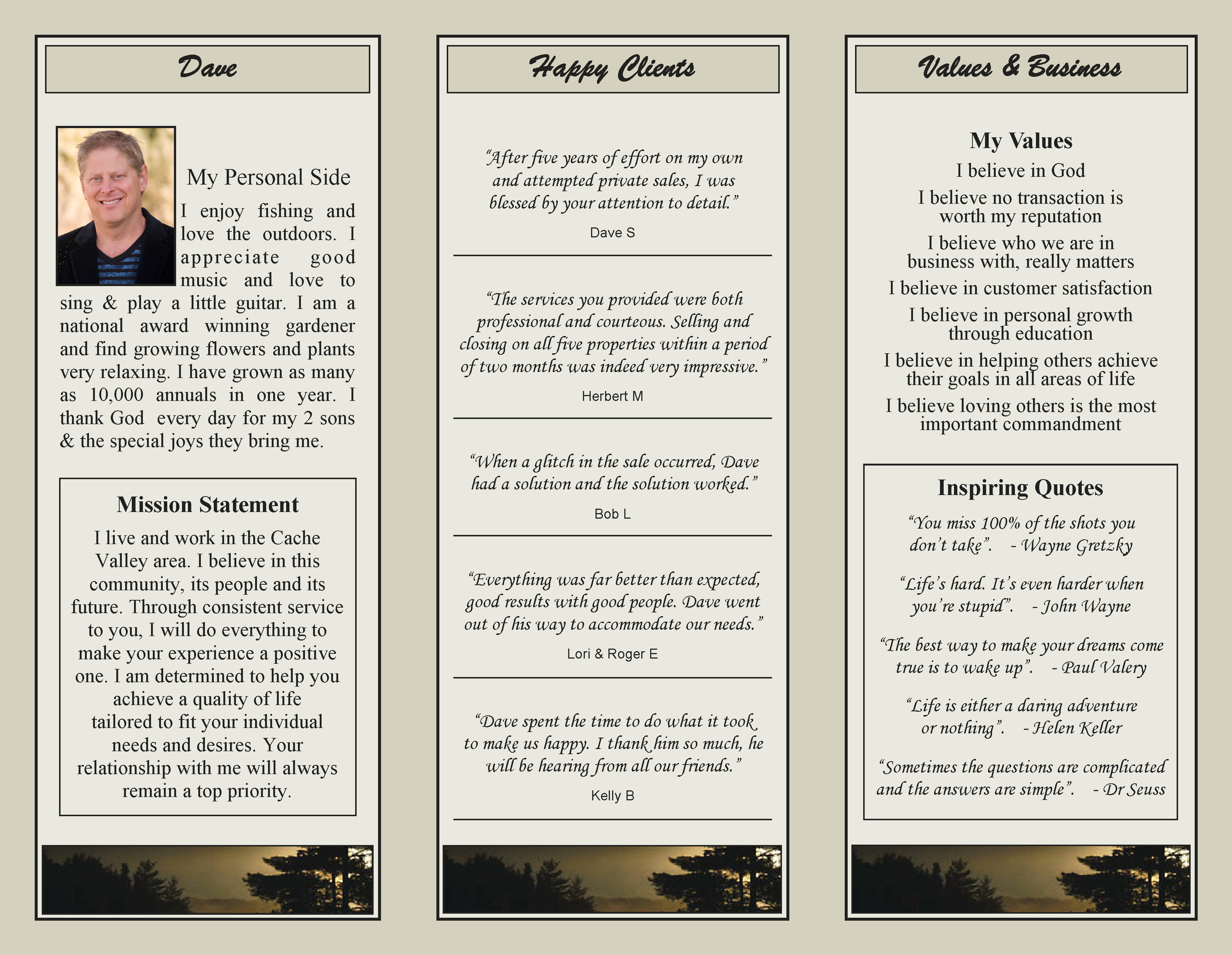 Personal Brochure page 2